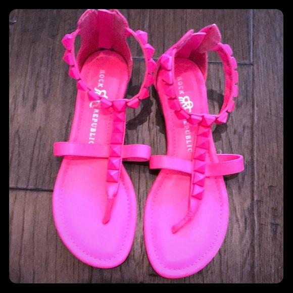 Rock Republic Hot Pink Sandals